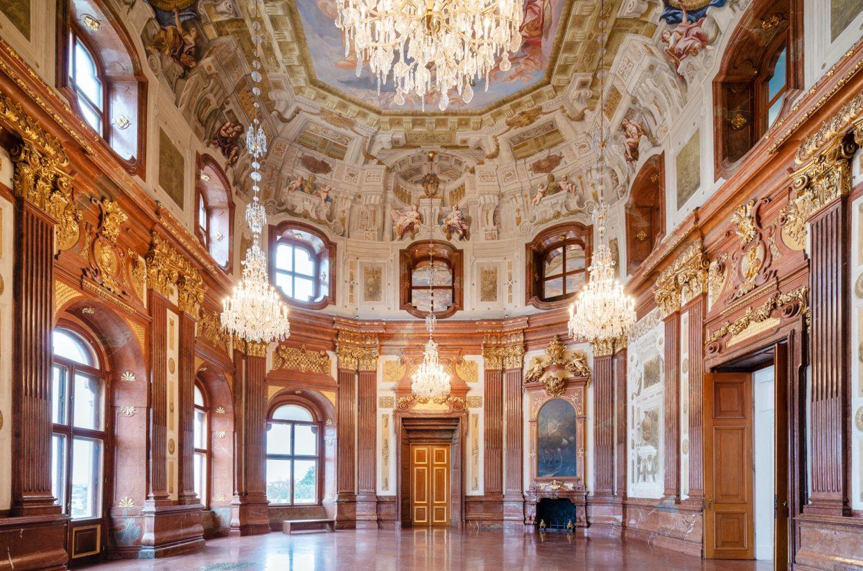 Innenaufnahme Oberes Belvedere Marmorsaal I Lukas Schaller © Belvedere, ...-web