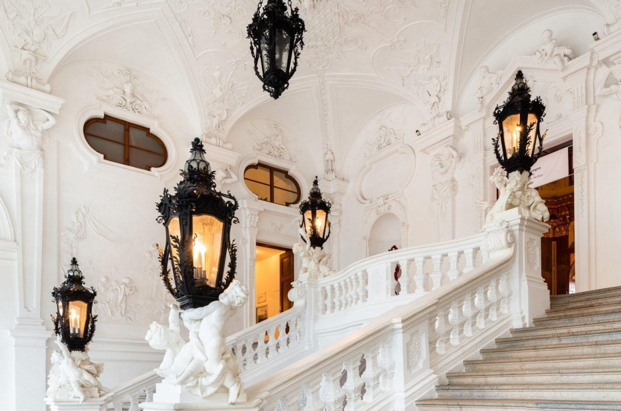 Innenaufnahme Oberes Belvedere Stiegenhaus I Lukas Schaller © Belvedere, Wien